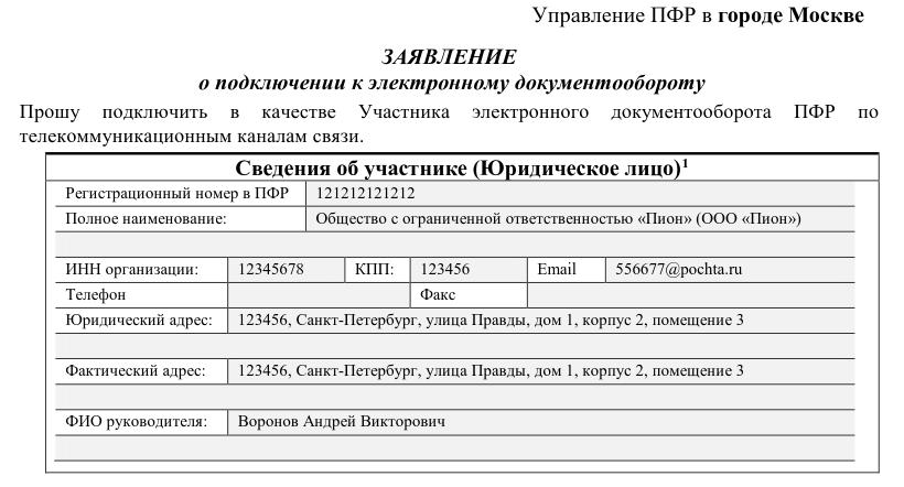 Соглашение на сдачу электронной отчетности в пфр бланк сайт налоговой электронной отчетности