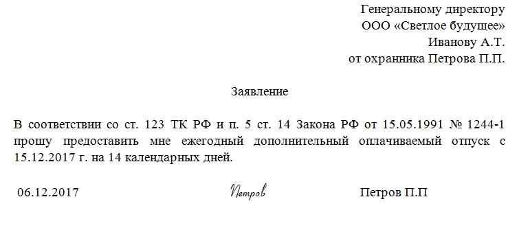 Дополнительный отпуск чернобыльцам в 2019 году