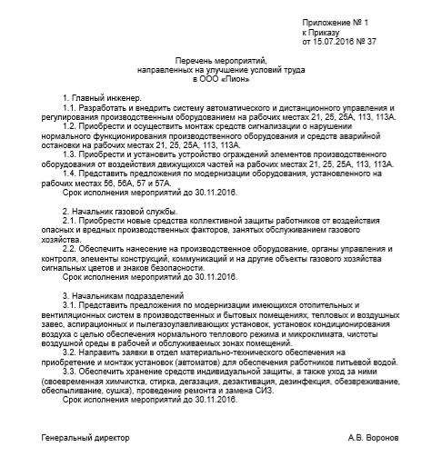 образец приказа о завершении соут 2016 - фото 6
