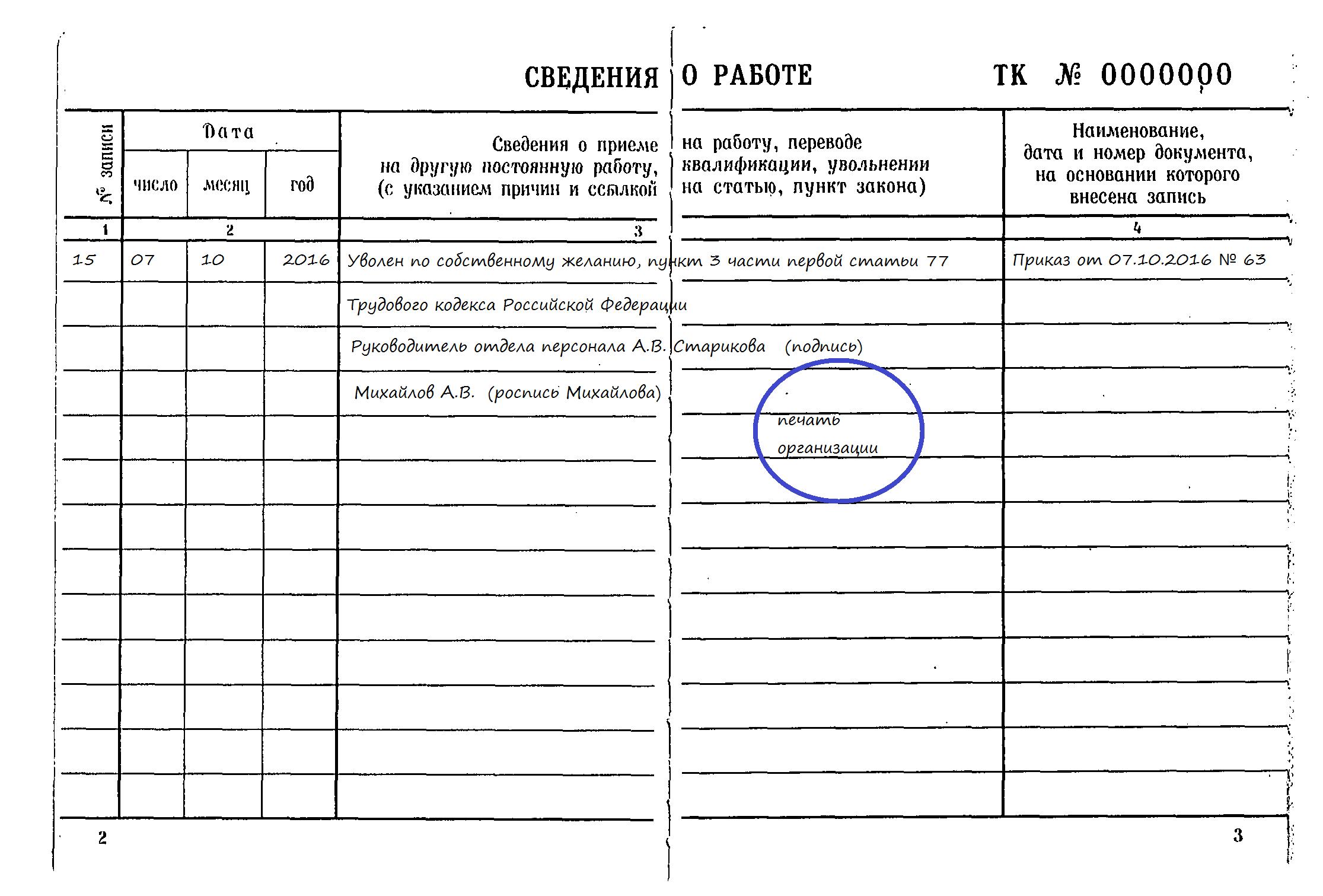 С записями в трудовой книжке ознакомлен образец налоговый вычет по чекам